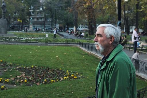 Perhaps a very wizened traveller? Taken in Belgrade, Serbia.