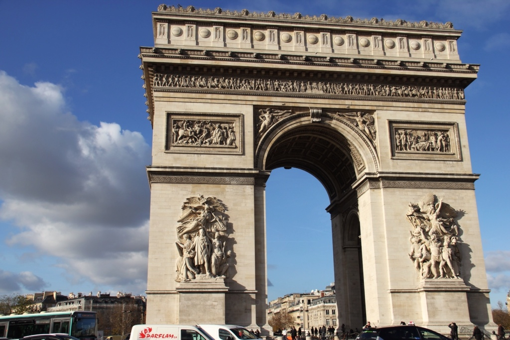 what parisian landmarks are today a long way back